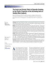 The Acute and Chronic Effect of Cigarette Smoking - The Hellenic ...