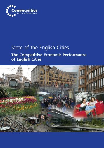 The Competitive Economic Performance of English Cities