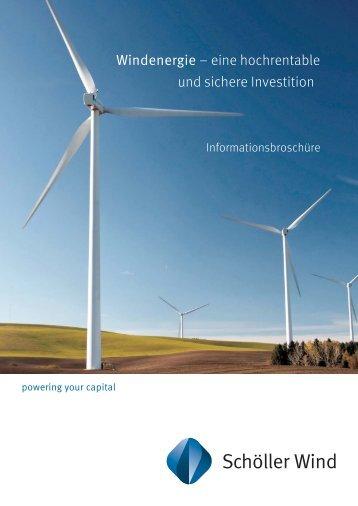 Windenergie – eine hochrentable und sichere Investition