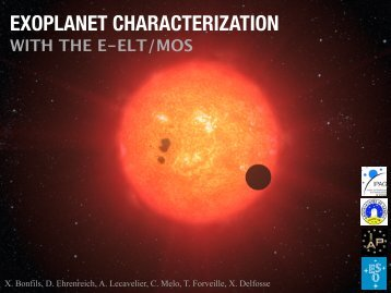 Exoplanet characterization with ELT MOS