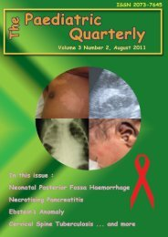 Volume 3 no. 2. 2011 - The Paediatric Quarterly