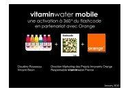 Flashcode pour accompagner le lancement de la marque en France