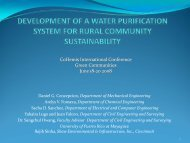 development of a water purification system for rural - CoHemis ...