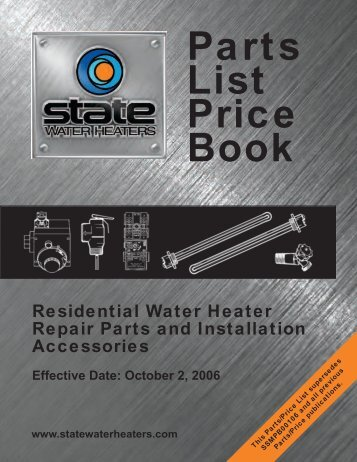 Residential - Water Heater Repair - Parts & Installation Accessories