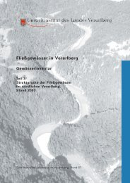 Fließgewässer in Vorarlberg
