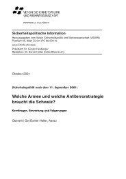 Sicherheitspolitische Information, Oktober 2001 - VSWW