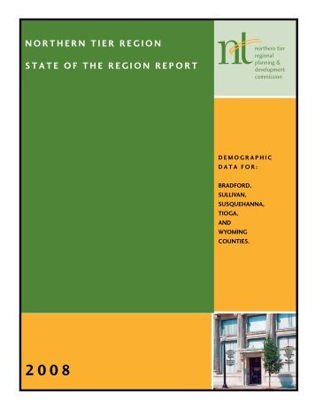 Download 2008 Report now - Northern Tier Regional Planning and ...