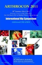 ARTHROCON 2011 - Orthopaedic Principles