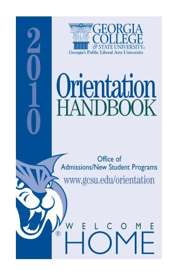 Orientation Book 2010 | Undergraduate Admissions | Georgia College