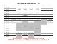 Pool Schedule December 26-January 1, 2011 ... - City of Humboldt