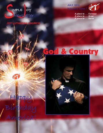 God & Country Happy Birthday America! - JOY Lutheran Church