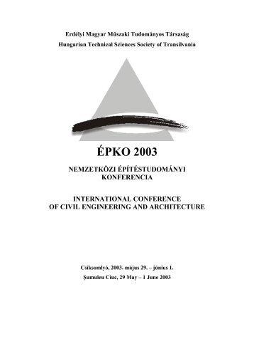 Nemzetközi Építéstudományi Konferencia - MEK