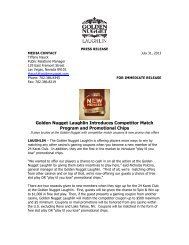 Golden Nugget Laughlin Introduces Competitor Match Program and ...