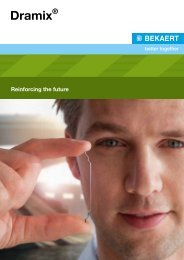 Dramix® - Reinforcing the future - Bekaert
