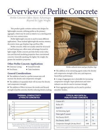 Lightweight Concrete Mix Designs - Perlite Institute