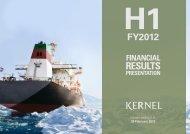 H1FY2012 - Kernel
