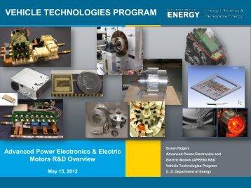 Advanced Power Electronics and Electric Motors - EERE - U.S. ...
