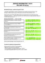 SERVICE INFORMATION 16-014 MULLMAN 700 styring - Mullerup