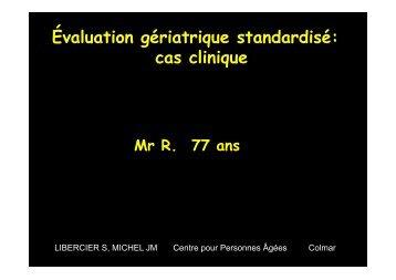 2OO9 APHJPA JMM Atelier 1 cas clinique EGS
