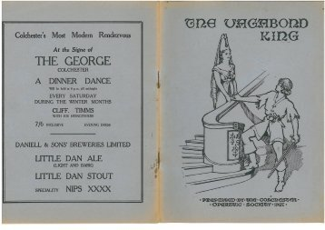 The Vagabond King 1937 - Colchester Operatic Society