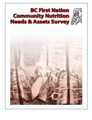 BC First Nation Community Nutrition Needs & Assets Survey