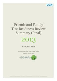 Friends and Family Test Readiness Review Summary (Final)