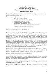 PROTOKÓŁ Nr XXI / 08 z Sesji Rady Miejskiej w Ozimku odbytej w ...