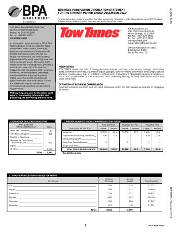 business publication circulation statement for the 6 month period ...