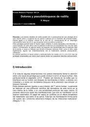 Dolores y pseudobloqueos de rodilla I) Introducción - sofmmoo