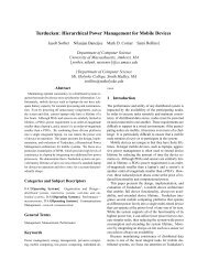 Hierarchical Power Management for Mobile Devices - Clemson ...