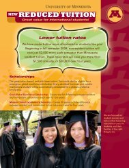 REDUCED TUITION REDUCED TUITION - University of Minnesota