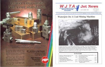 November - Waterjet Technology Association