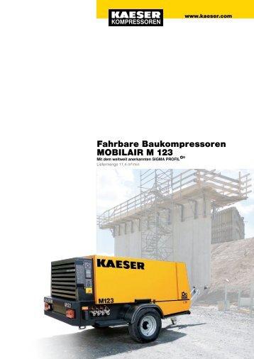 Fahrbare Baukompressoren MOBILAIR M 123