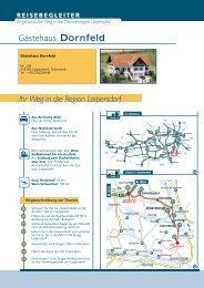 Detaillierten Anfahrtsplan herunterladen - Gästehaus Dornfeld