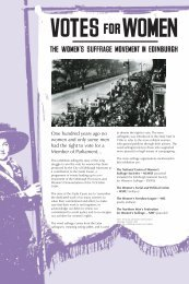 Votes for Women display panels 1 - Edinburgh Museums