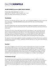 Download press informations - Galerie Kornfeld