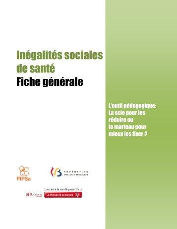 Inégalités sociales de santé Fiche générale - Pipsa