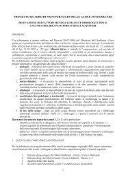 progetto quadro di monitoraggio delle acque ... - Regione Lazio