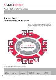 machine safety services - Leuze electronic