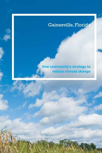Download Climate Change Report (pdf) - Gainesville Regional Utilities