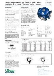 2.6.03-C 3-Wege-Regelventile, Typ G3FM-TL (AB ... - Clorius Controls