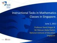 Core 2 Presentation November 3, 2010 - NIE Mathematics ...