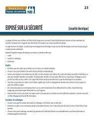Sécurité électrique - Travail sécuritaire NB