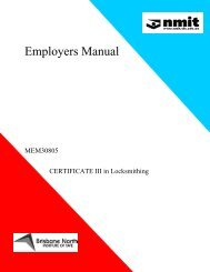 Employers Manual - NMIT