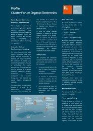 Profile Cluster Forum Organic Electronics - InnovationLab