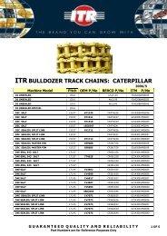 ITR BULLDOZER TRACK CHAINS: CATERPILLAR - VR Trading