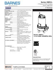 Series 2SEV-L - Crane Pumps & Systems