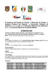convocatoria Nacional Master de Pista y Campo 2011 - Atletismo en ...
