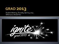 April 25 2013 Grad Meeting