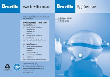 Instruction Book - Breville